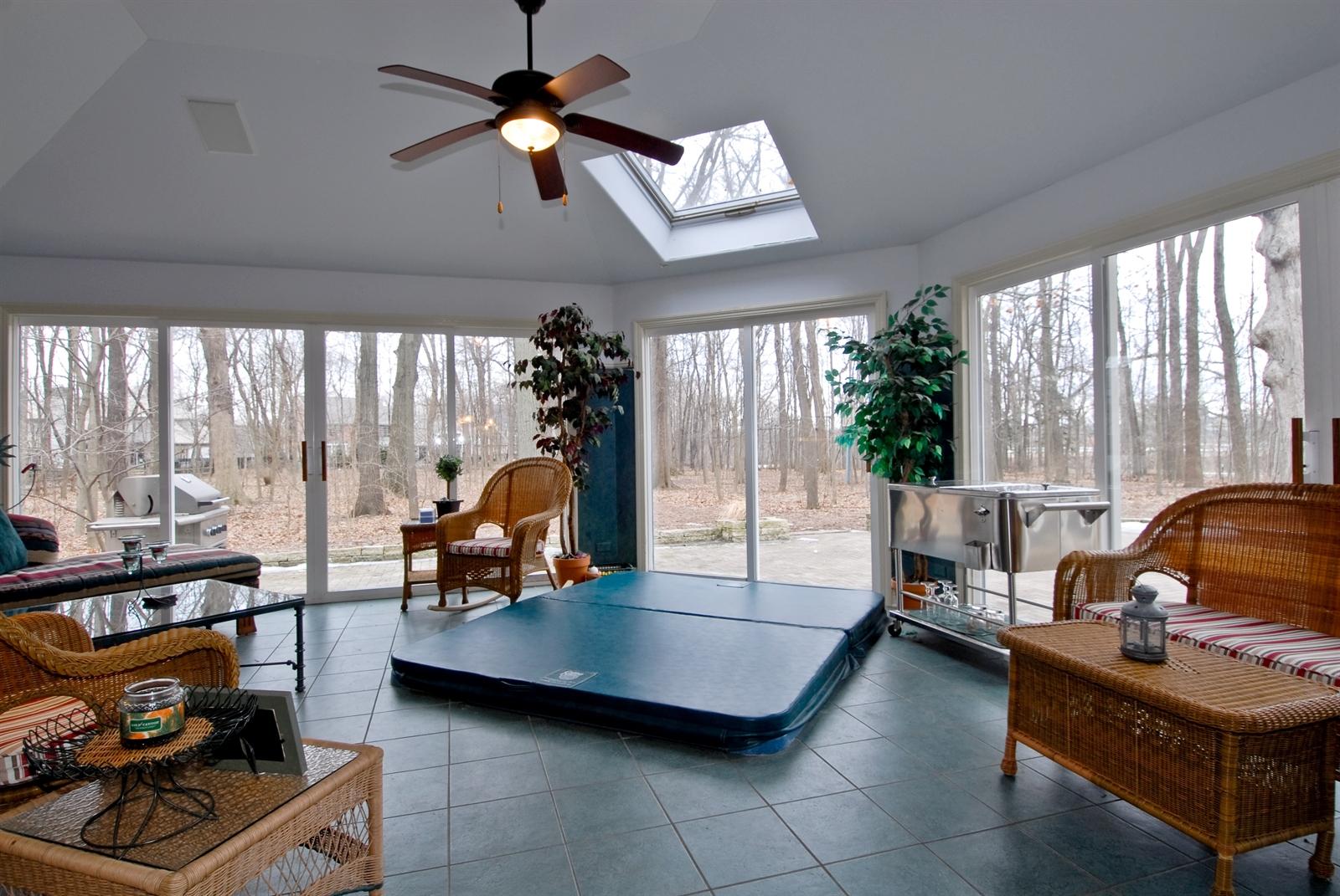 Real Estate Photography - 620 E Gartner Rd, Naperville, IL, 60540 - Three Seasons / Sun Room