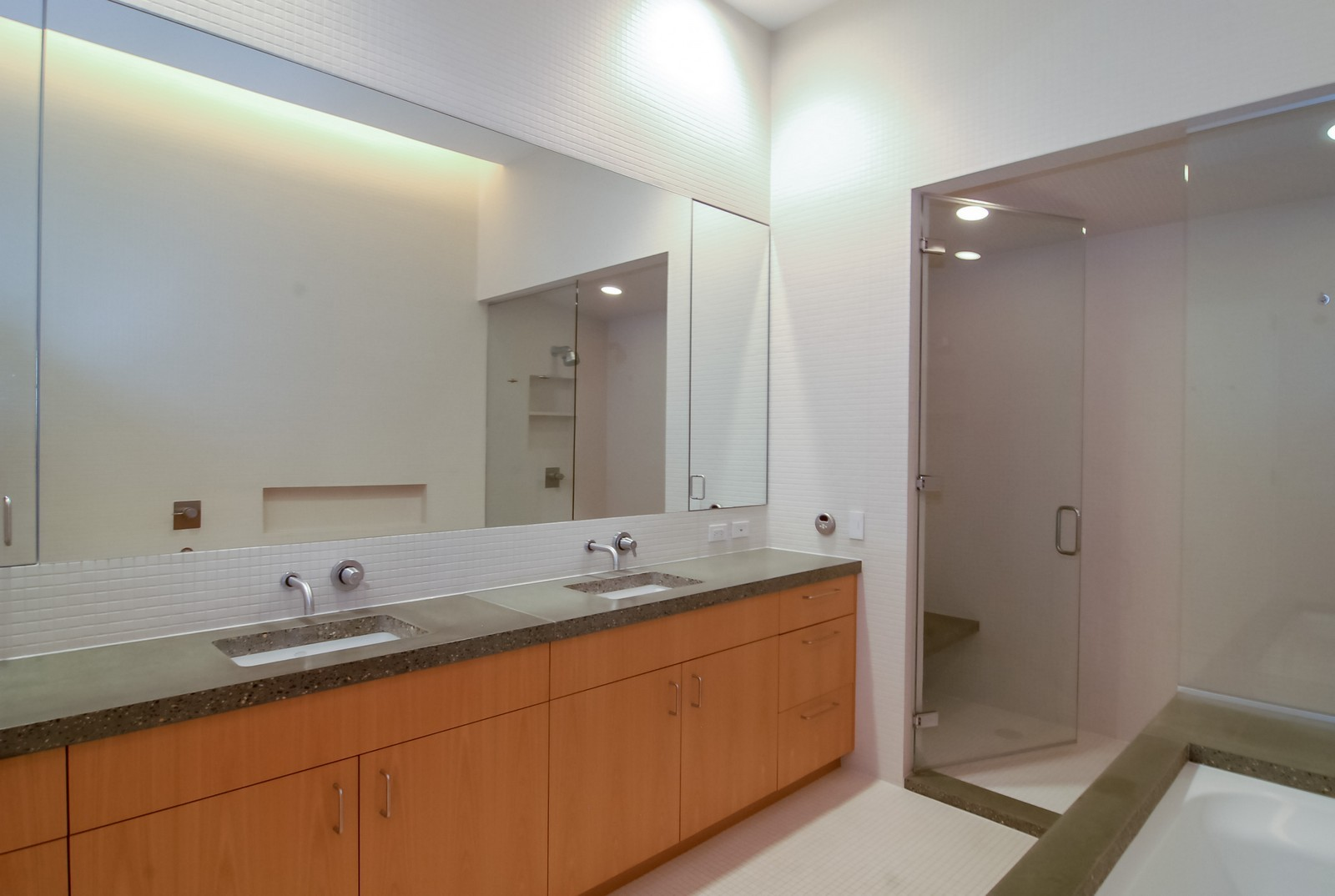 Real Estate Photography - 900 N Kingsbury St, Unit 950, Chicago, IL, 60654 - Master Bathroom