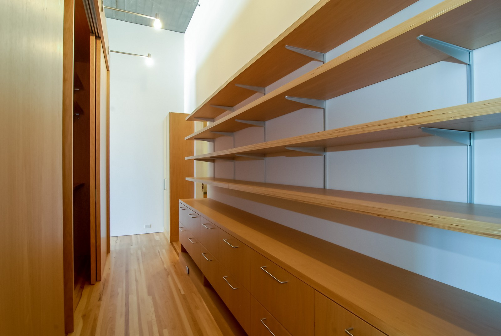 Real Estate Photography - 900 N Kingsbury St, Unit 950, Chicago, IL, 60654 - Master Bedroom Closet