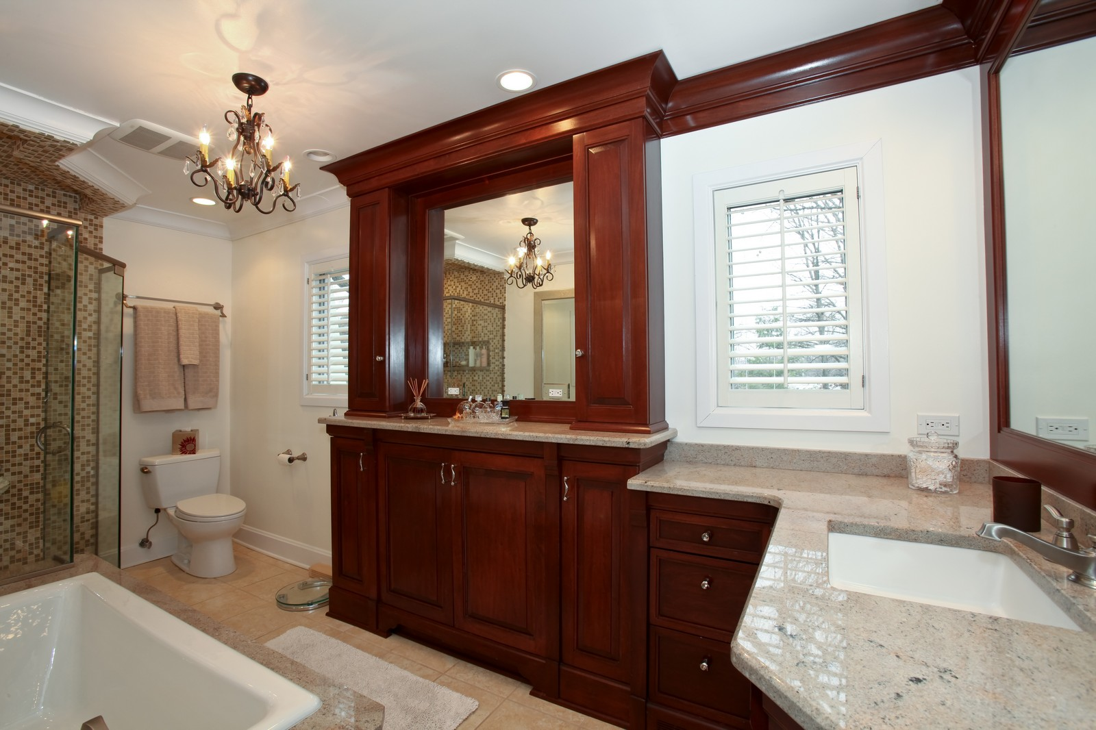 Real Estate Photography - 1 Strauss Lane, Olympia Fields, IL, 60461 - Master Bathroom
