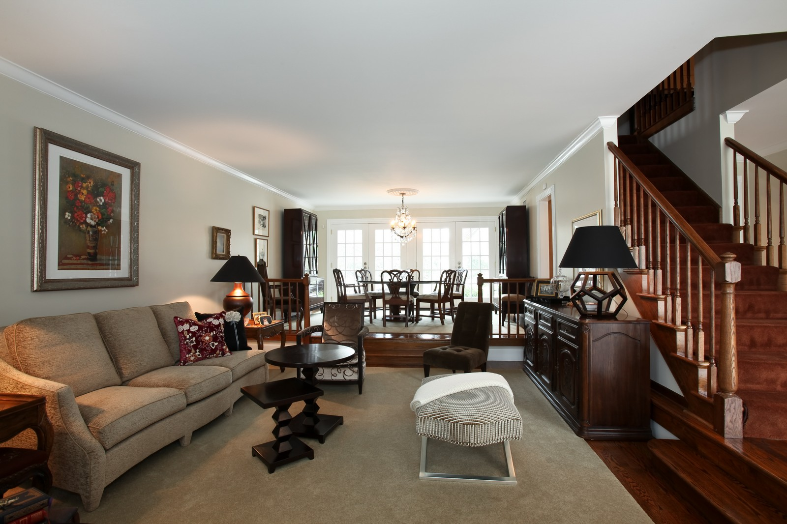 Real Estate Photography - 1 Strauss Lane, Olympia Fields, IL, 60461 - Living Room / Dining Room