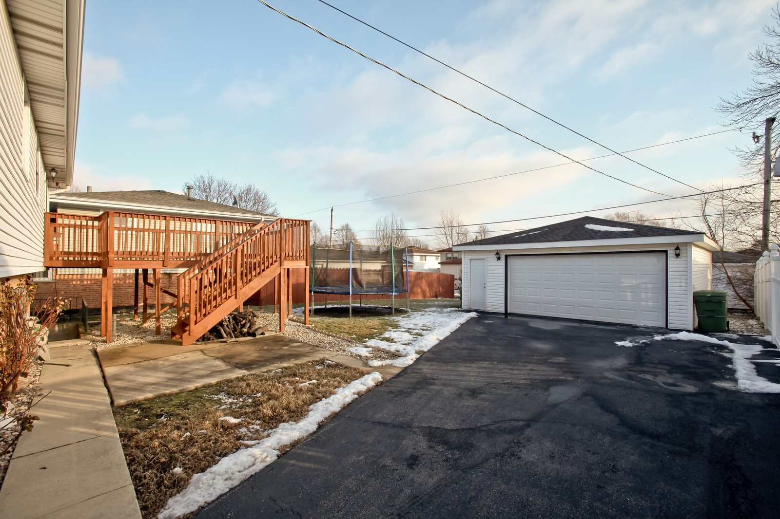 Real Estate Photography - 7609 W 173rd St, Tinley Park, IL, 60477 - Rear View