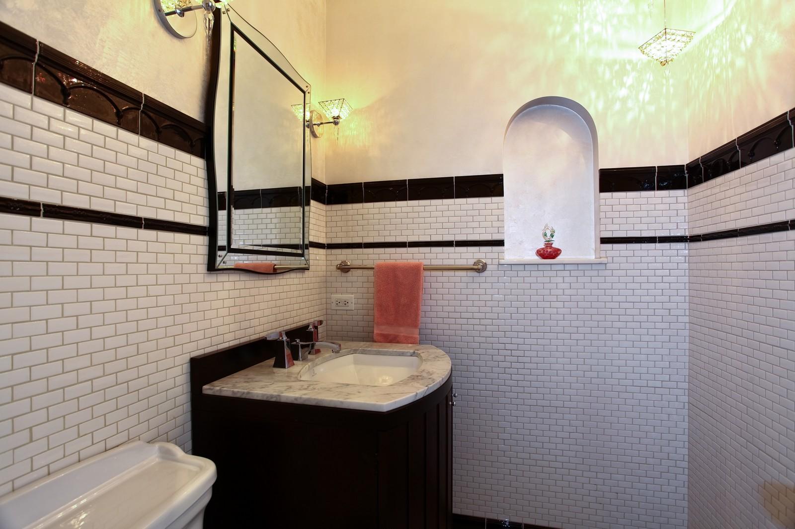 Real Estate Photography - 864 Woodland Dr, Glen Ellyn, IL, 60137 - Half Bath