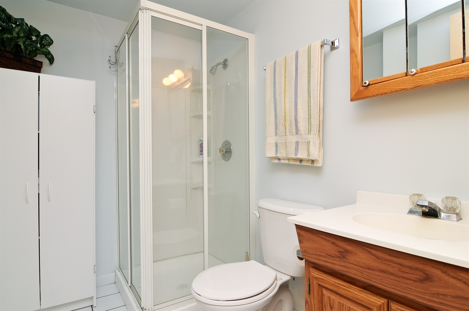 Real Estate Photography - 58 Vail Colony, Unit 6, Fox Lake, IL, 60020 - Bathroom