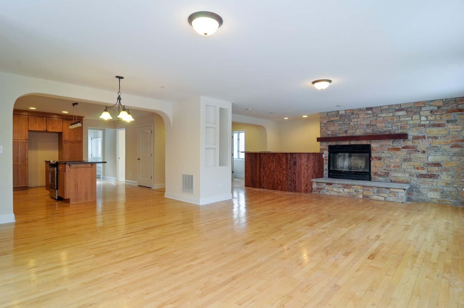 Real Estate Photography - 109 N River Rd, Fox River Grove, IL, 60021 - Living Room / Dining Room