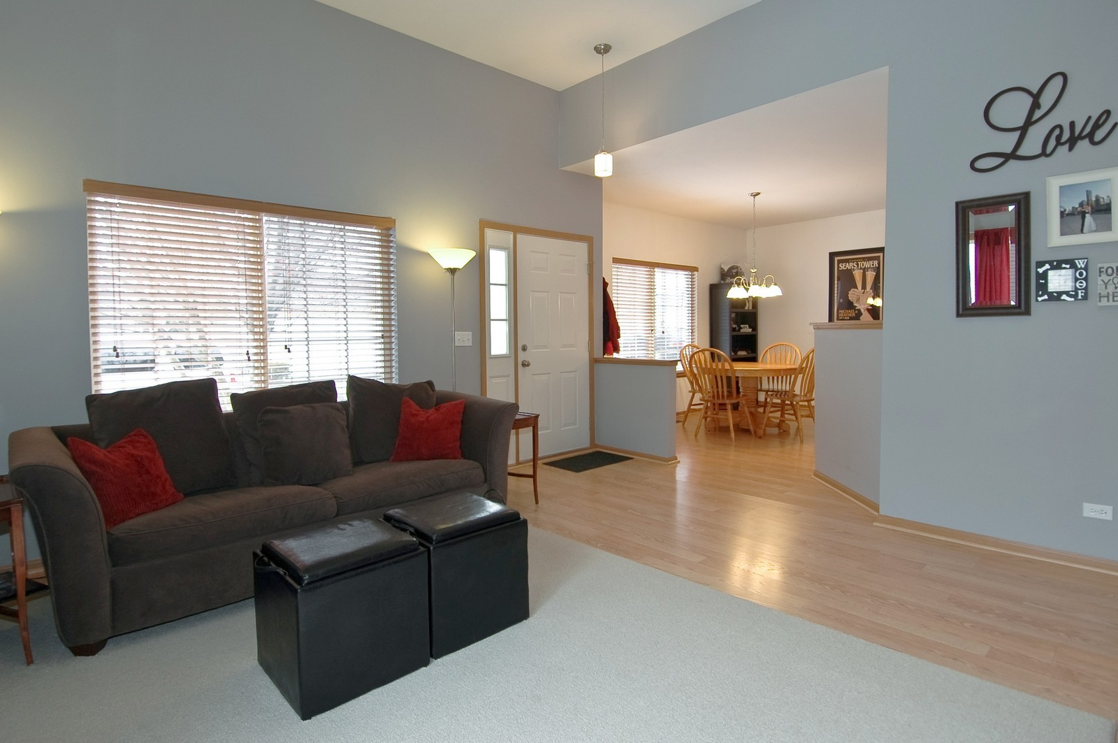 Real Estate Photography - 285 Nicole Dr, Unit F, South Elgin, IL, 60177 - Living Room / Dining Room