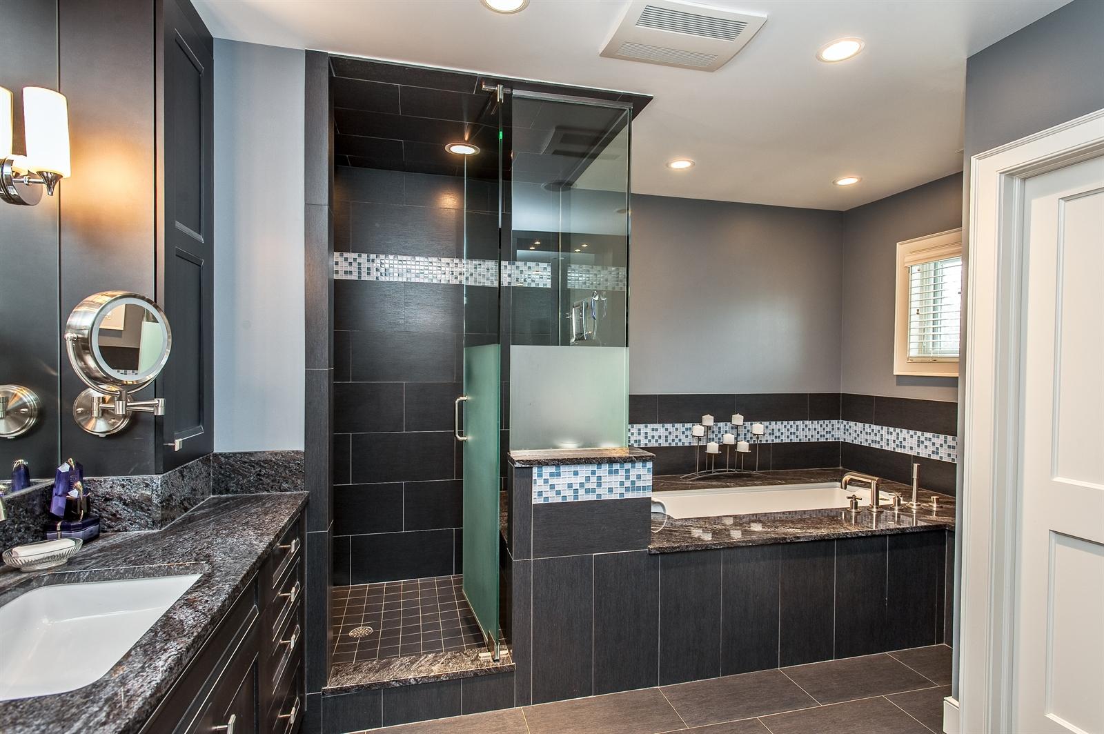 Real Estate Photography - 1715 Cloverdale Ave, Highland Park, IL, 60035 - Master Bathroom