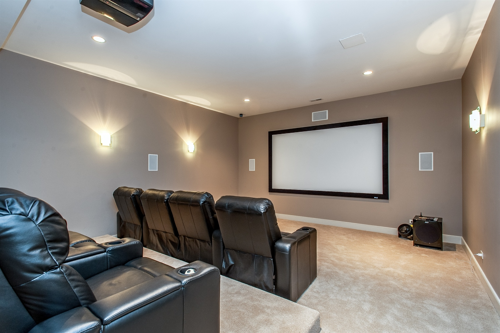 Real Estate Photography - 1715 Cloverdale Ave, Highland Park, IL, 60035 - Theater