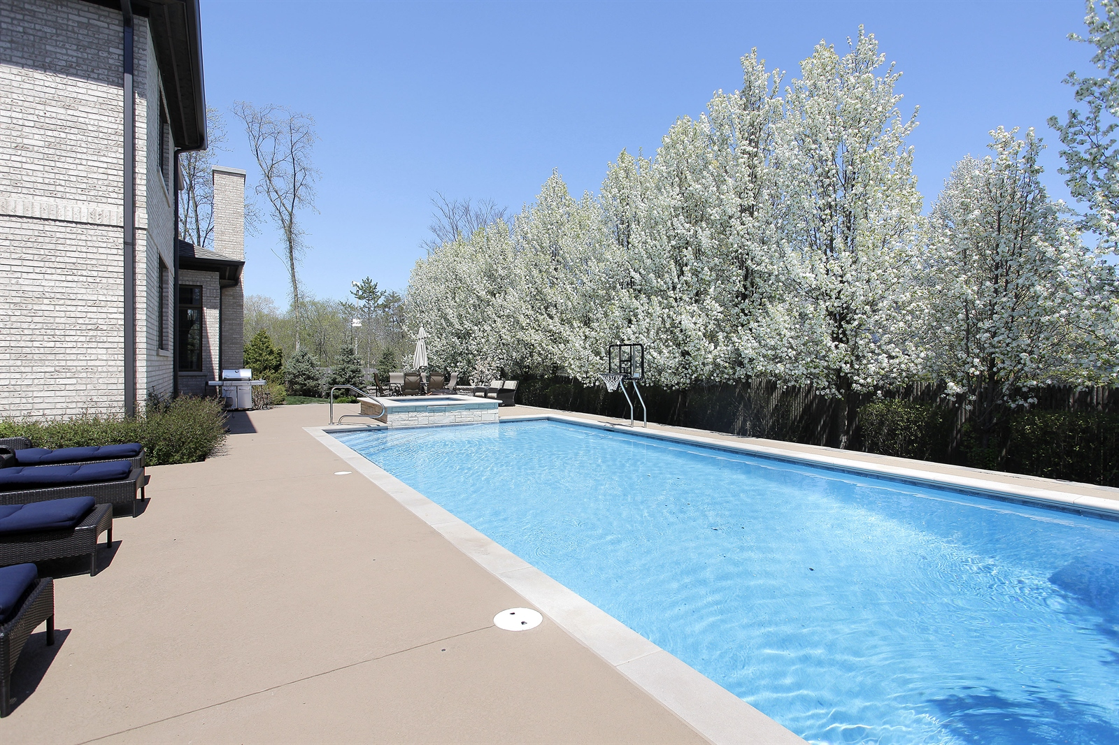 Real Estate Photography - 1715 Cloverdale Ave, Highland Park, IL, 60035 - Pool & Spa