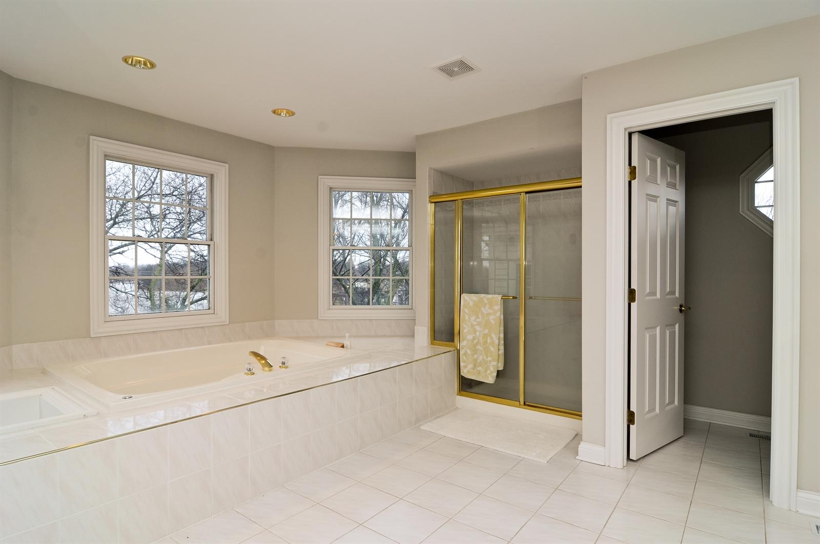 Real Estate Photography - 1020 Oakland, Barrington, IL, 60010 - Master Bathroom