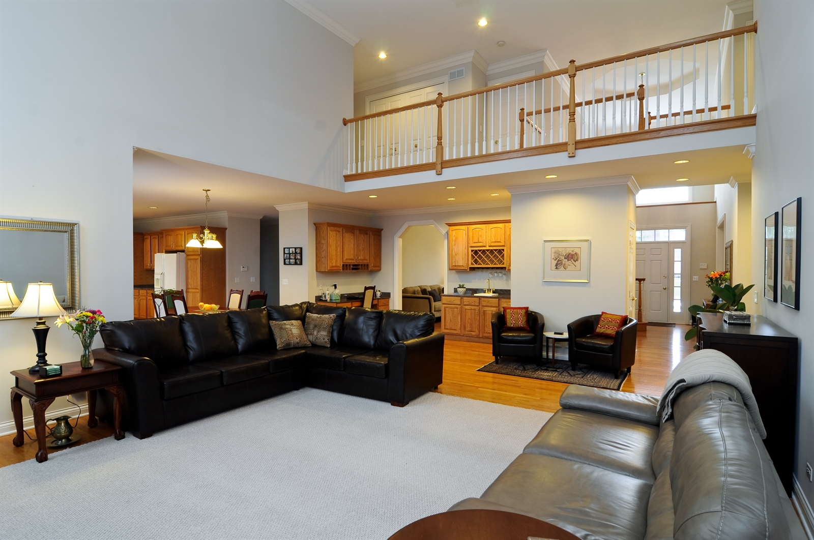 Real Estate Photography - 1020 Oakland, Barrington, IL, 60010 - Family Room / Kitchen