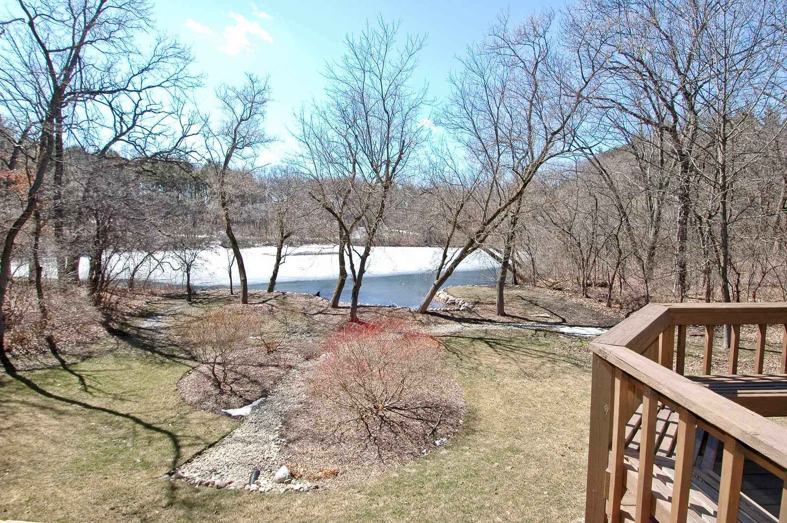 Real Estate Photography - 10424 Deerpath Rd, Woodstock, IL, 60098 - View from deck