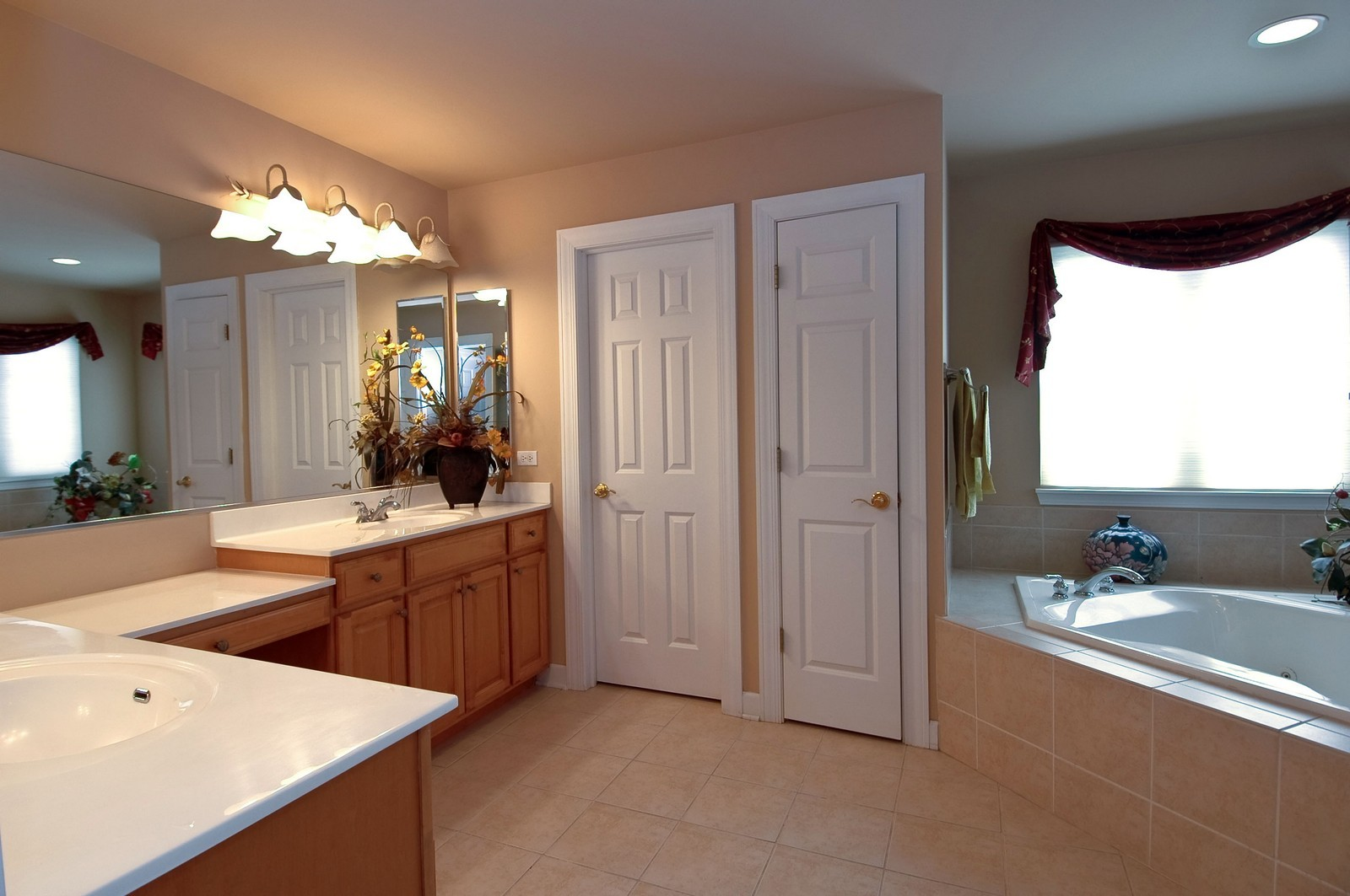 Real Estate Photography - 1001 Marble Ct, Lake in the Hills, IL, 60156 - Master Bathroom