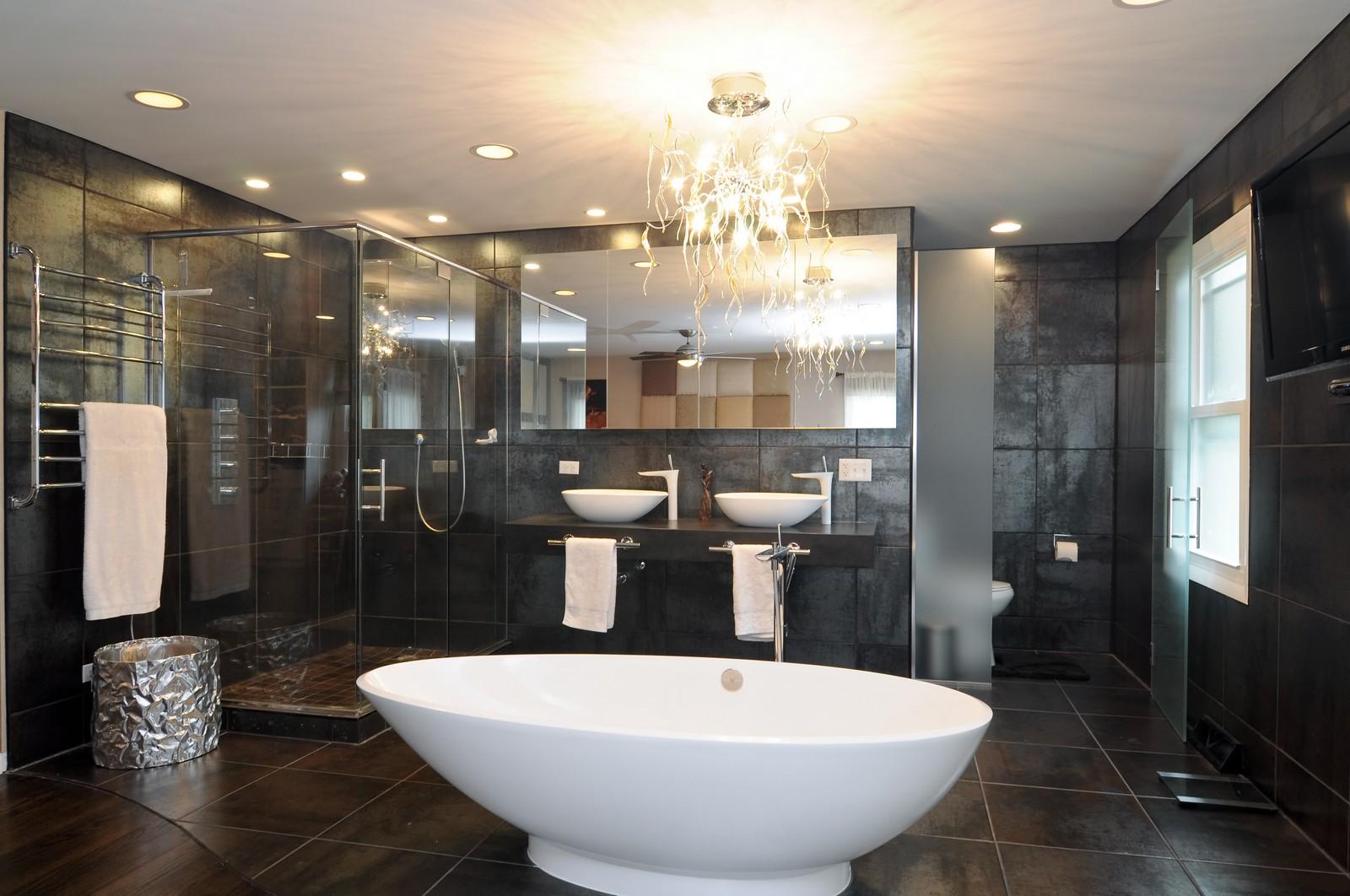 Real Estate Photography - 618 Hill St, Barrington, IL, 60010 - Master Bathroom