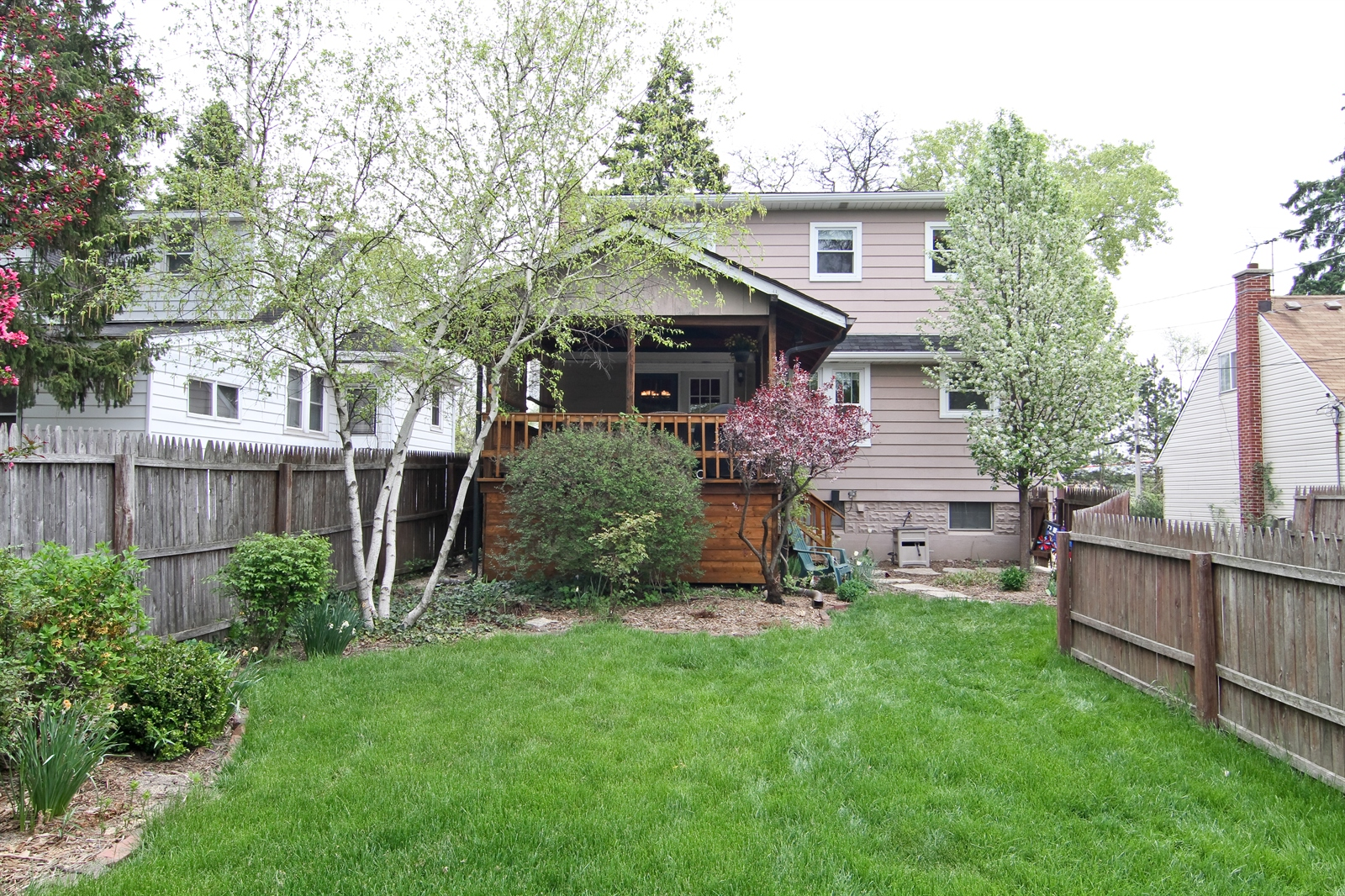Real Estate Photography - 4244 N Lindley St, Downers Grove, IL, 60515 - Rear View