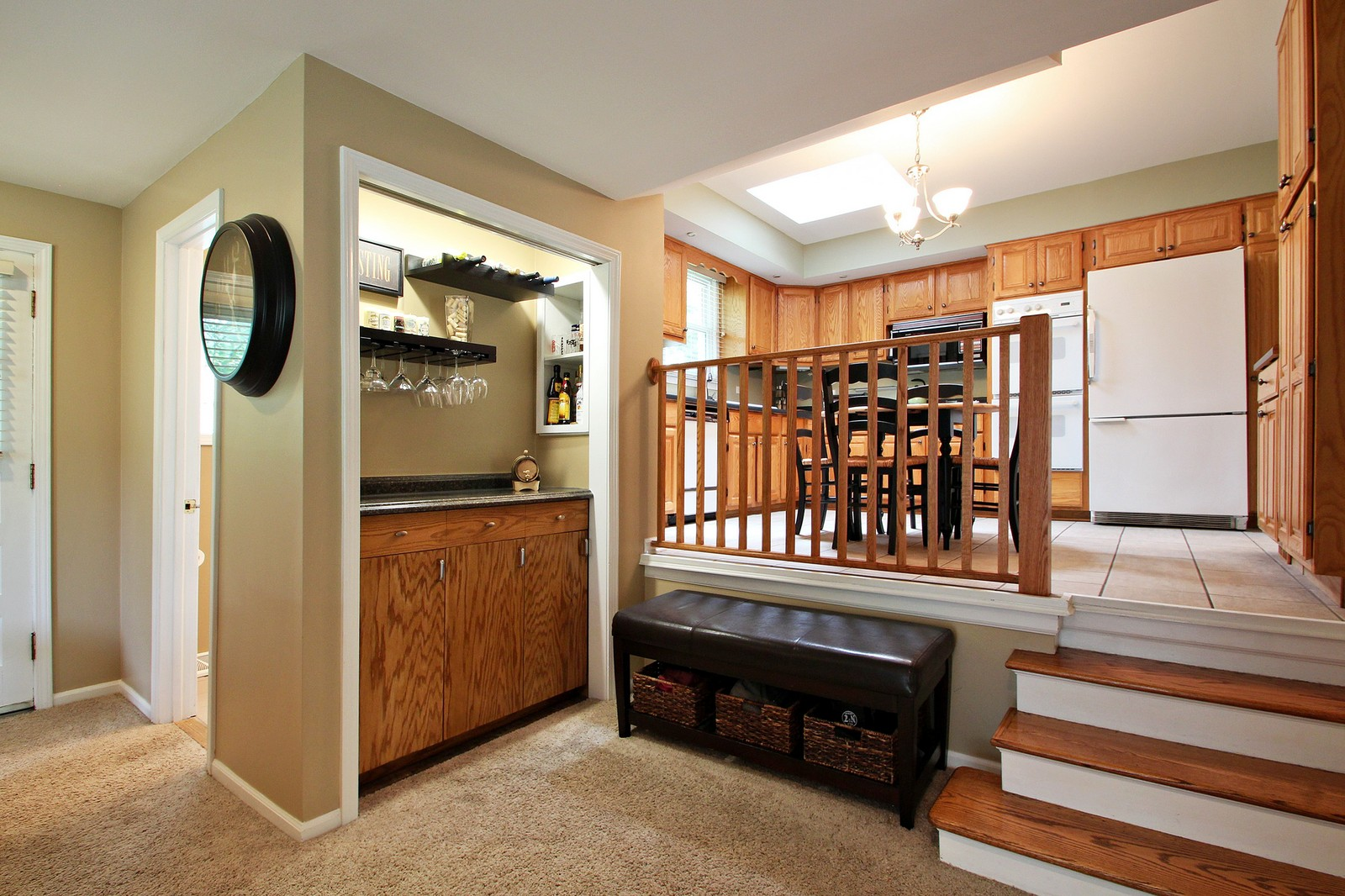 Real Estate Photography - 1040 62nd Pl, Downers Grove, IL, 60516 - Kitchen / Living Room