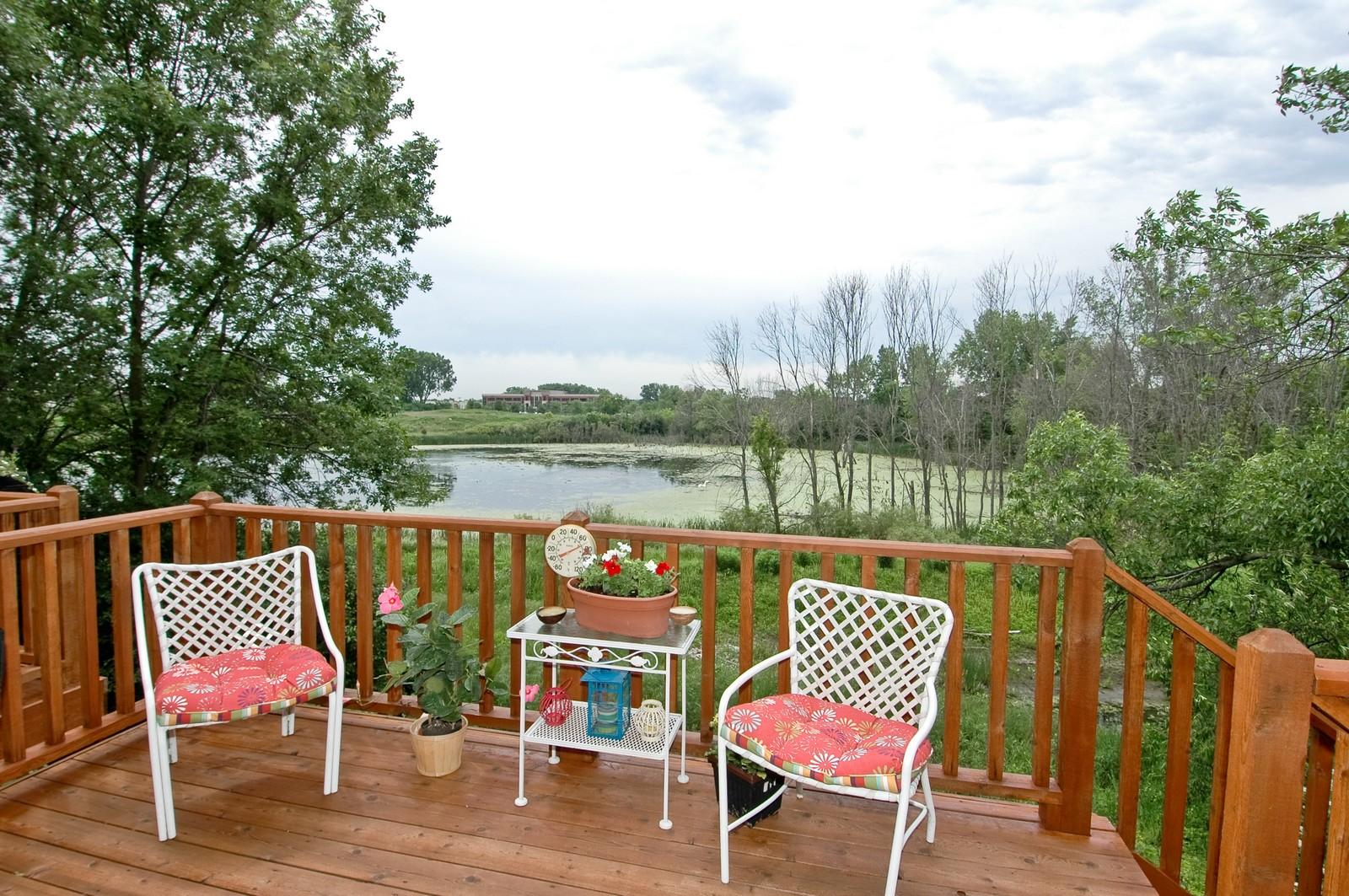 Real Estate Photography - 21899 W Tori Ln, Deer Park, IL, 60010 - Deck