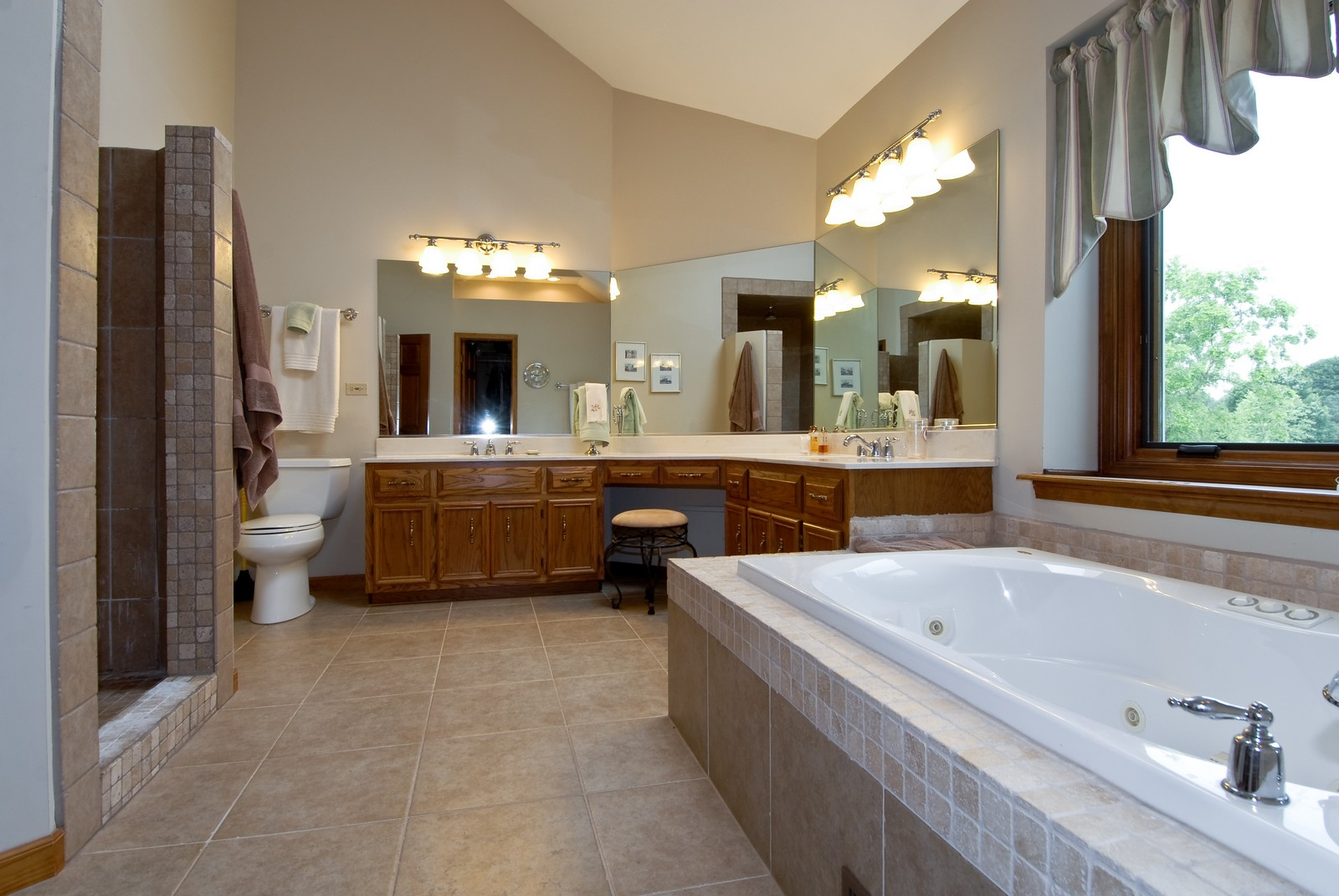 Real Estate Photography - 3942 Broadmoor Circle, Naperville, IL, 60564 - Master Bathroom