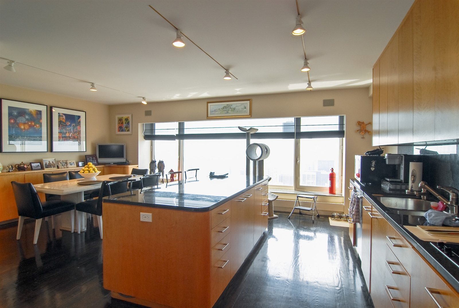 Real Estate Photography - 161 E Chicago, Unit 60M3, Chicago, IL, 60611 - Kitchen-Breakfast Room