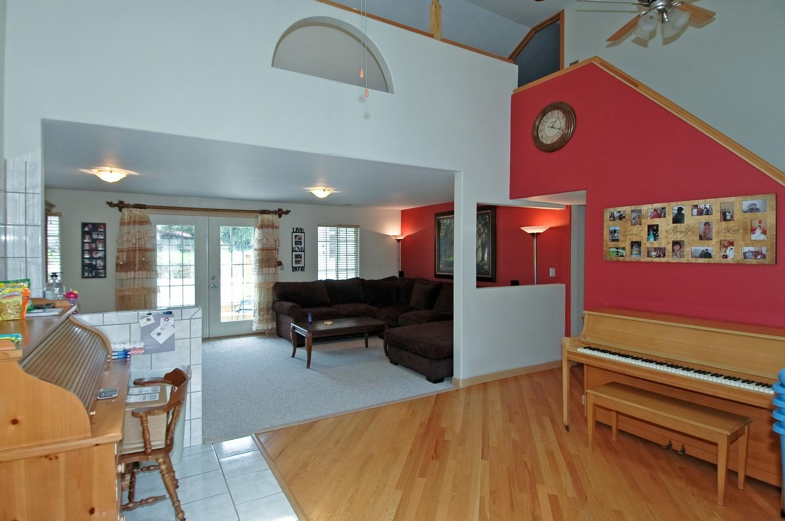 Real Estate Photography - 10N875 Belmont St, Elgin, IL, 60120 - Foyer/Living Room
