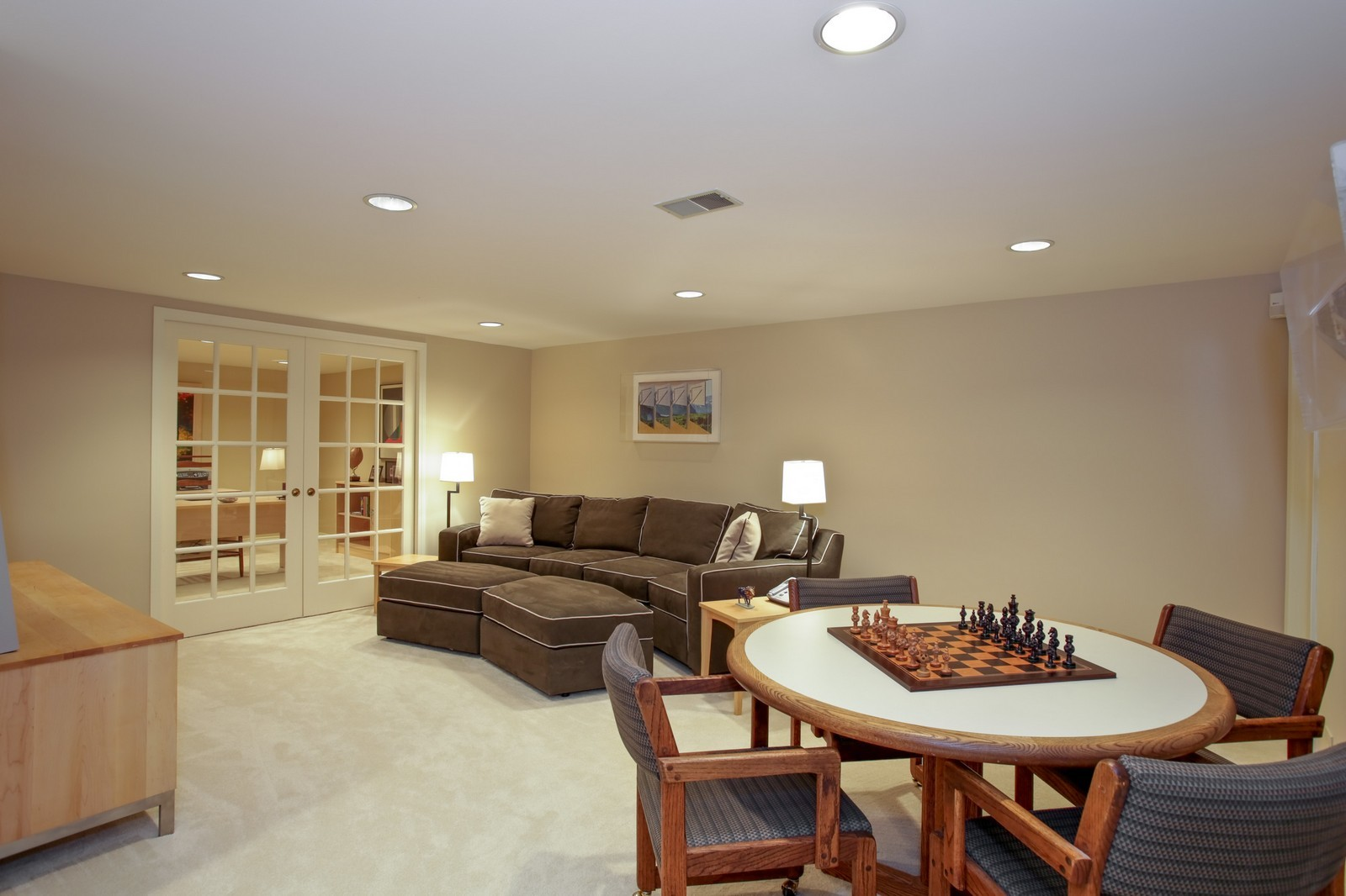 Real Estate Photography - 25W445 Plamondon Rd, Wheaton, IL, 60189 - Basement Rec Room