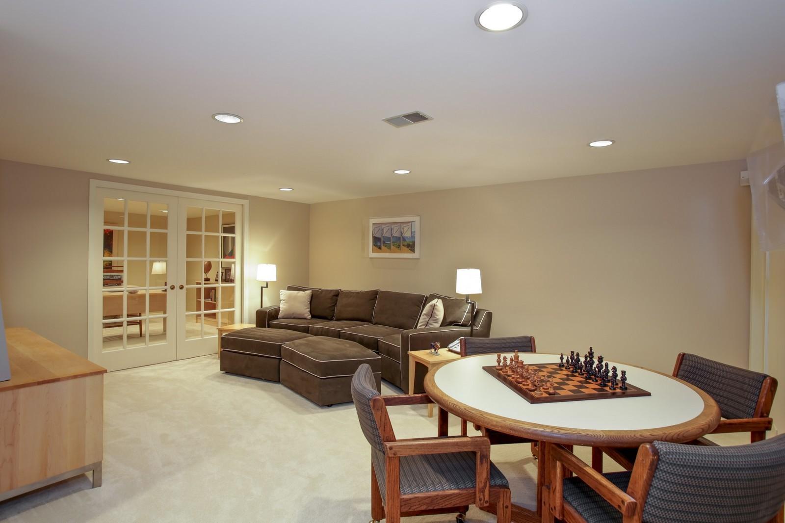 Real Estate Photography - 25W445 Plamondon Rd, Wheaton, IL, 60189 - Basement Rec Room