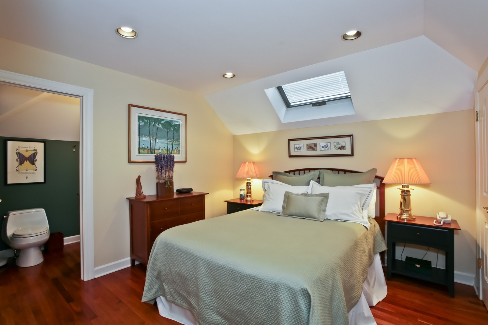 Real Estate Photography - 25W445 Plamondon Rd, Wheaton, IL, 60189 - Guest Quarters Bedroom