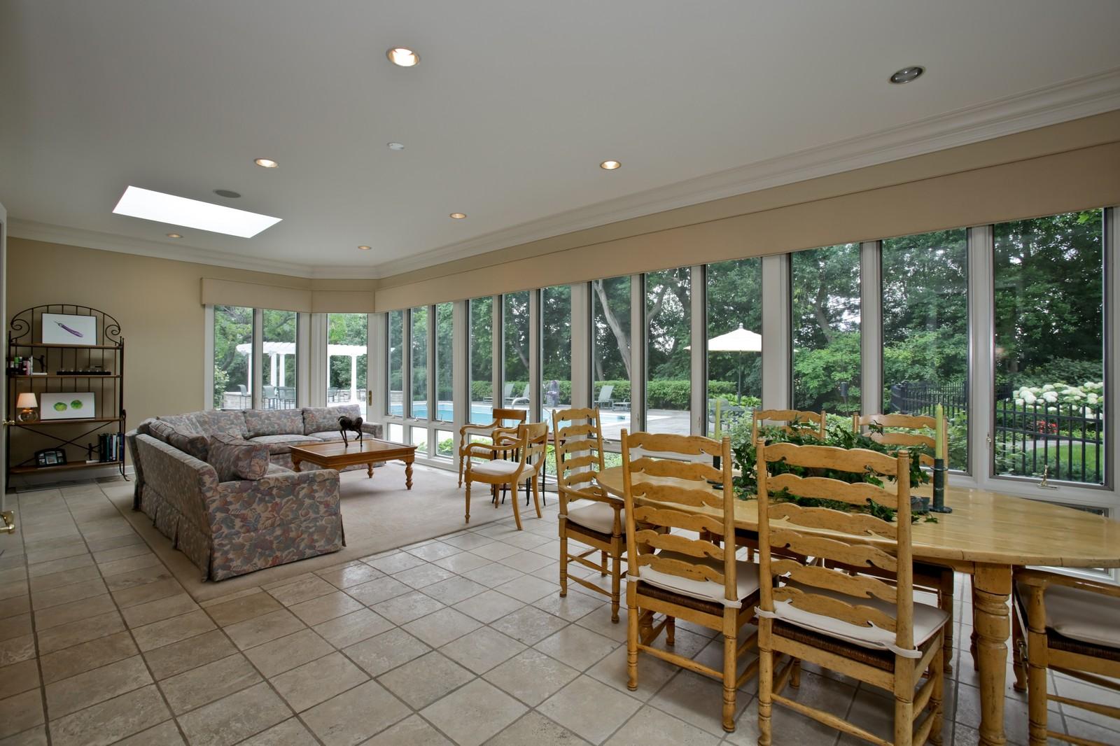 Real Estate Photography - 25W445 Plamondon Rd, Wheaton, IL, 60189 - Sun Room