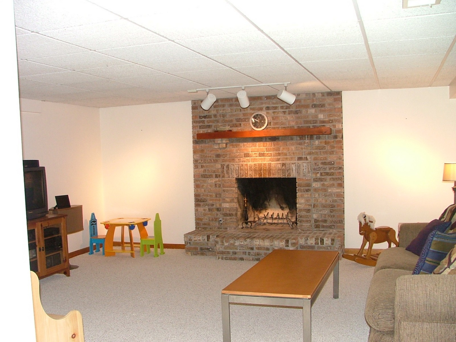 Real Estate Photography - 256 Canidae Ct, St Charles, IL, 60174 - Basement Rec Room