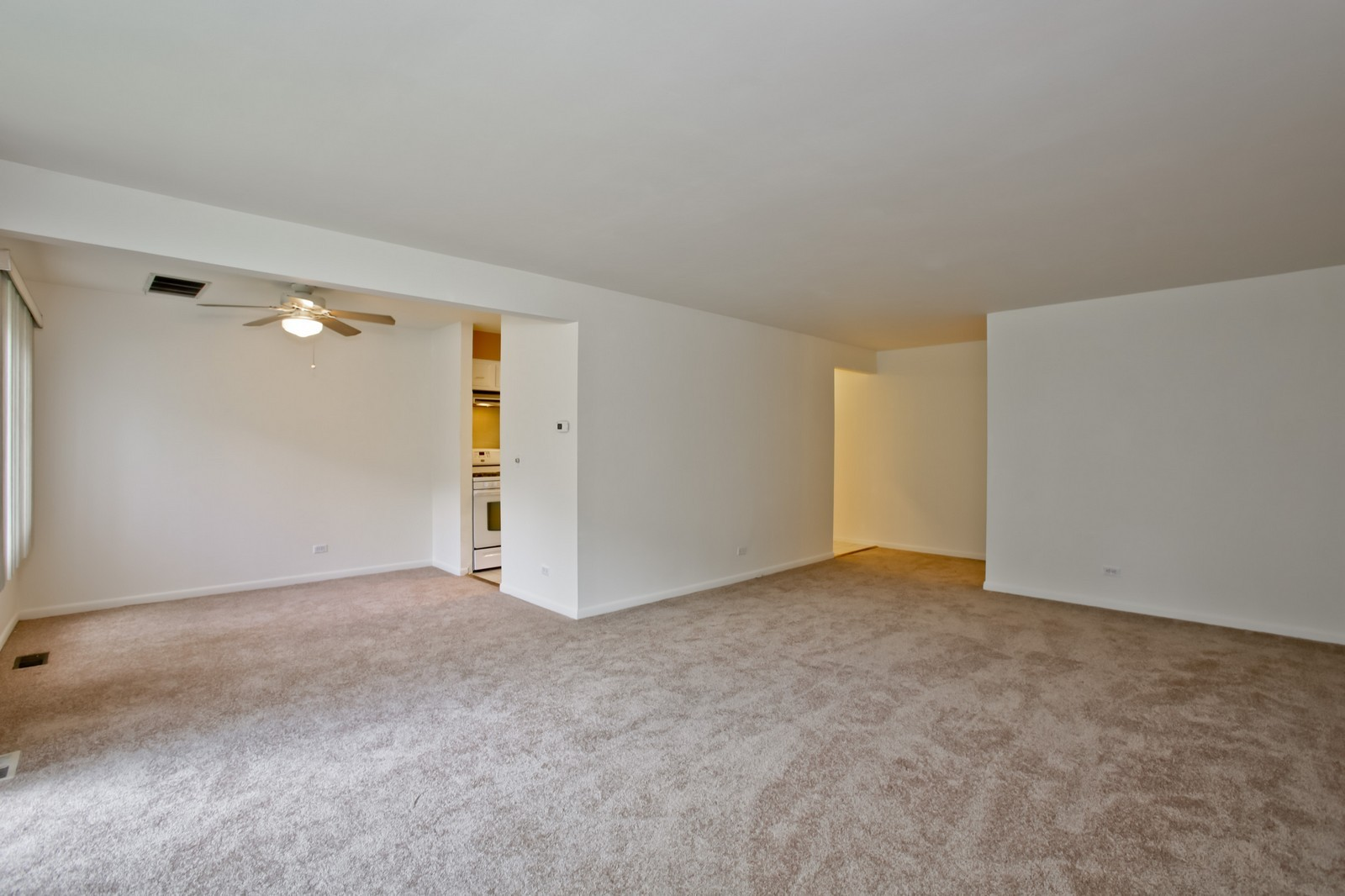 Real Estate Photography - 2811 Hobson Rd, Unit 3, Woodridge, IL, 60517 - Living Room / Dining Room