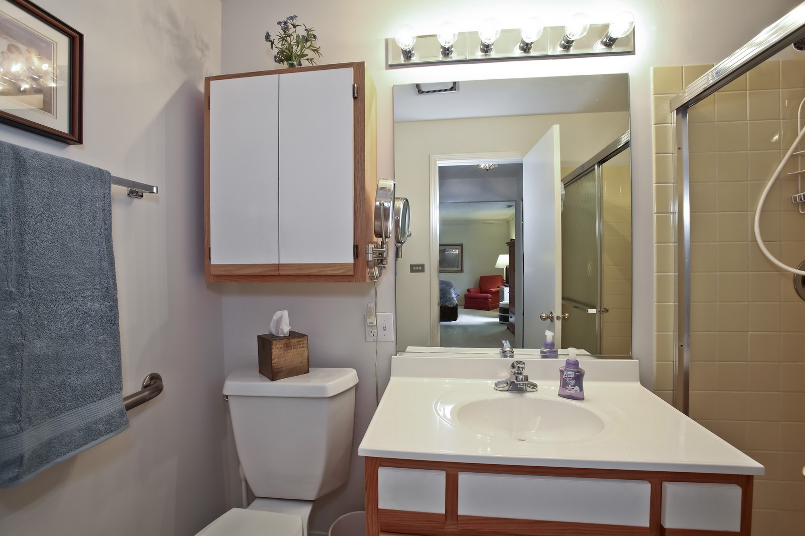 Real Estate Photography - 519 N Main St, Unit 2DN, Glen Ellyn, IL, 60137 - Master Bathroom