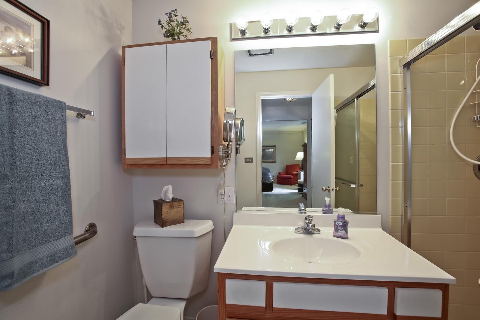 Real Estate Photography - 519 N Main St, Unit 2DN, Glen Ellyn, IL, 60137 - Master Bathroom
