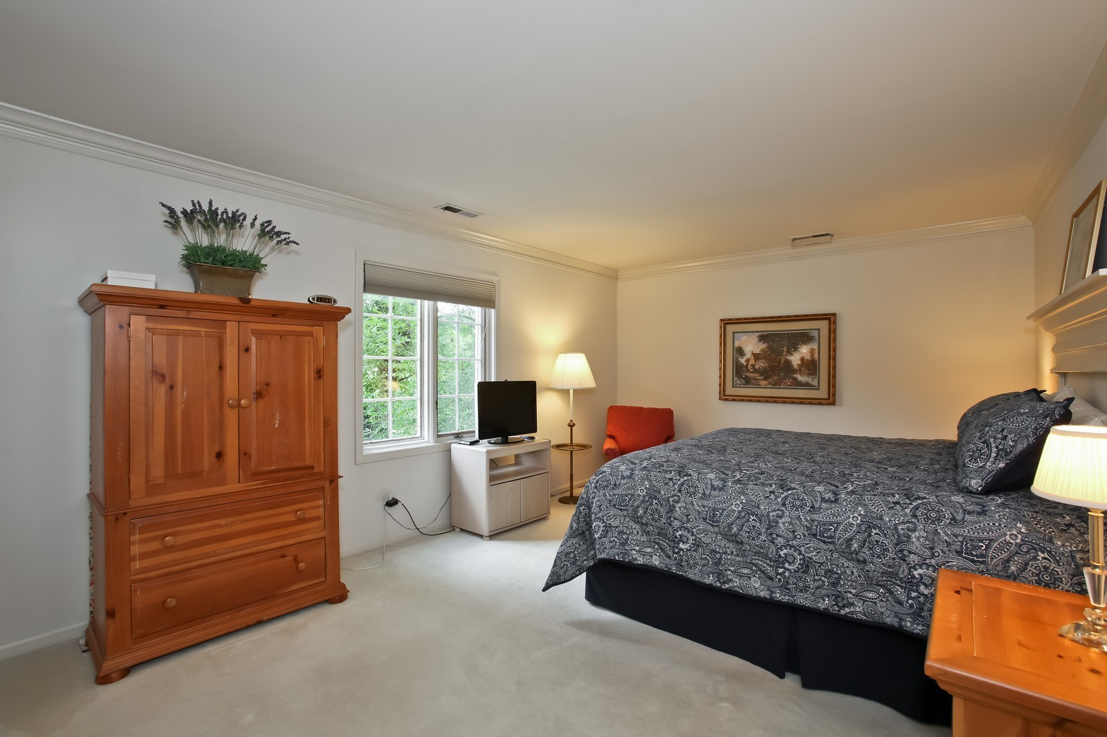 Real Estate Photography - 519 N Main St, Unit 2DN, Glen Ellyn, IL, 60137 - Master Bedroom