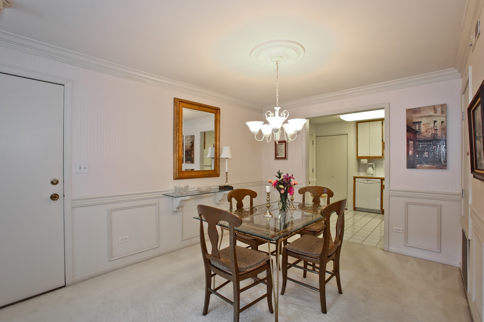 Real Estate Photography - 519 N Main St, Unit 2DN, Glen Ellyn, IL, 60137 - Kitchen / Dining Room
