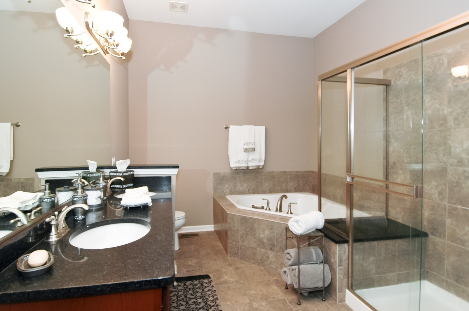 Real Estate Photography - 4435 Coyote Lakes Cir, Lake in the Hills, IL, 60156 - Master Bathroom