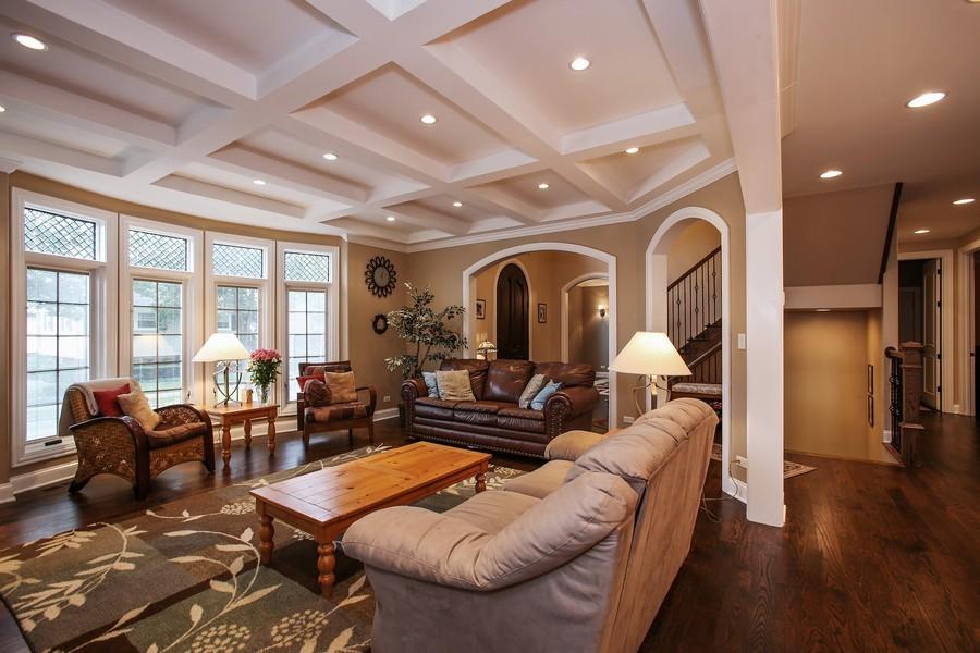 Real Estate Photography - 719 S Hillside Ave, Elmhurst, IL, 60126 - Foyer/Living Room