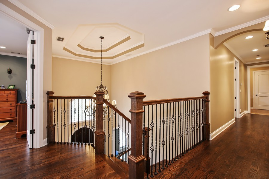 Real Estate Photography - 719 S Hillside Ave, Elmhurst, IL, 60126 - 2nd Floor Corridor