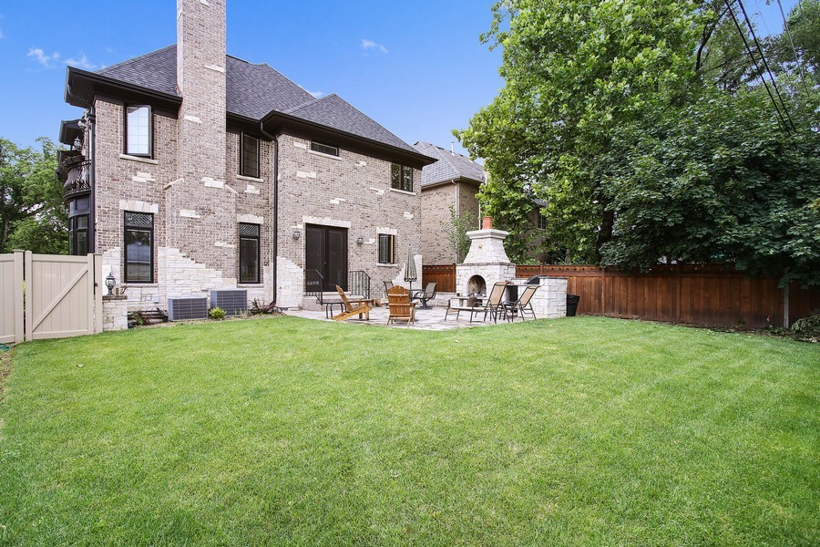 Real Estate Photography - 719 S Hillside Ave, Elmhurst, IL, 60126 - Rear View
