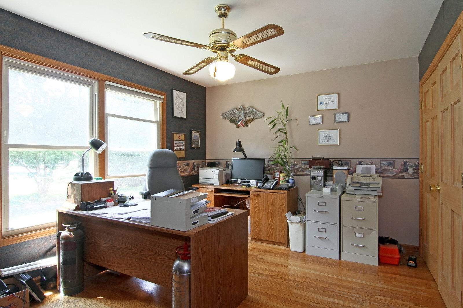Real Estate Photography - 527 Lindley Rd, Westmont, IL, 60559 - Office