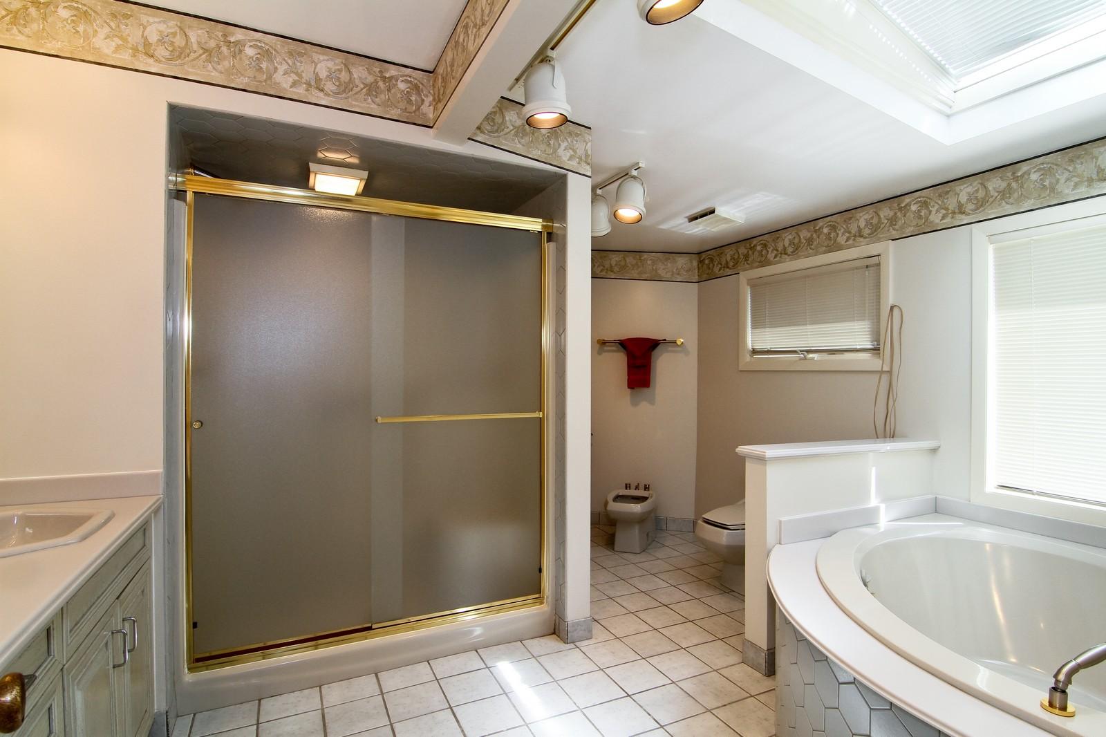 Real Estate Photography - 829 Columbia, Darien, IL, 60561 - Master Bathroom