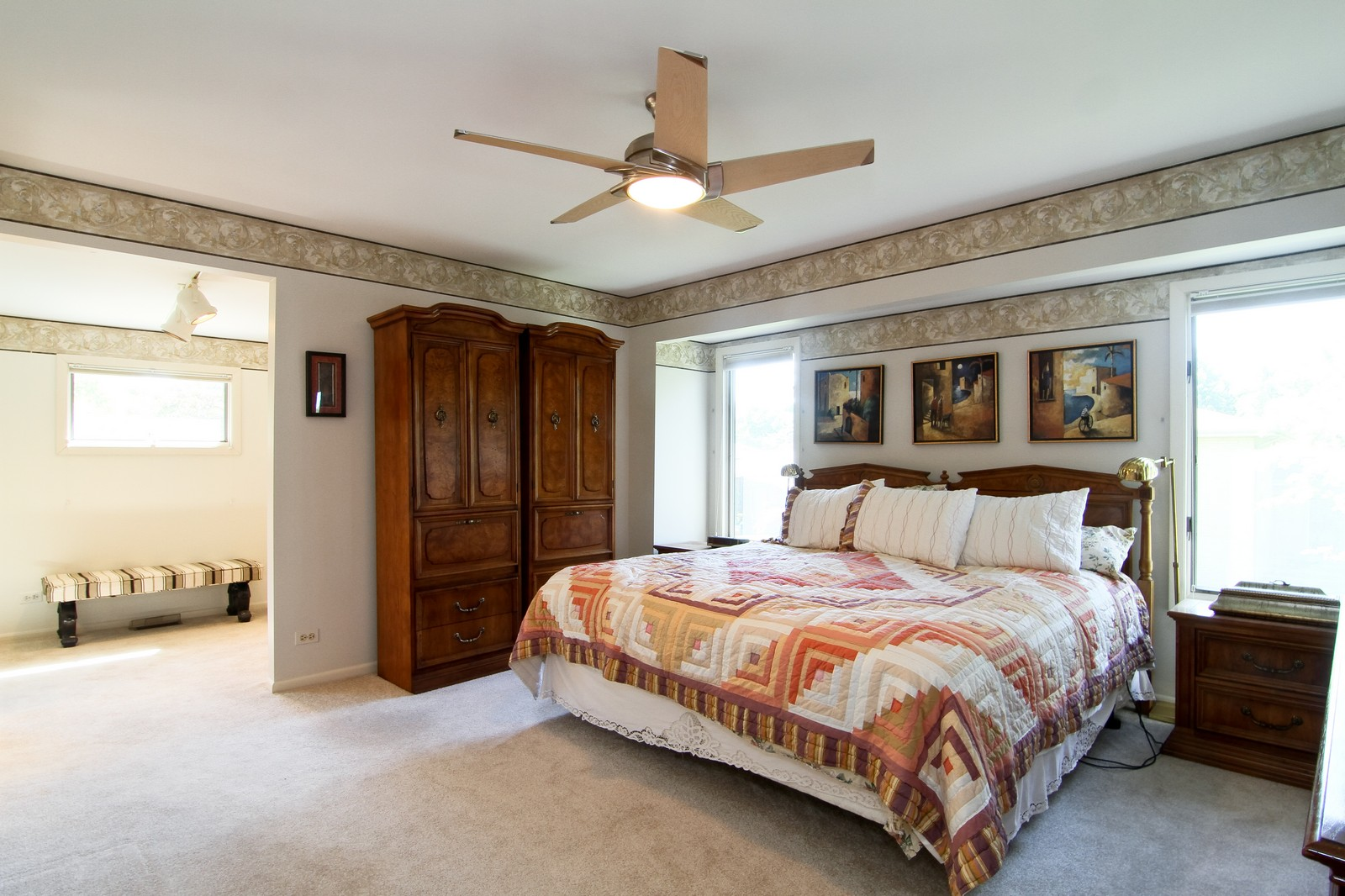 Real Estate Photography - 829 Columbia, Darien, IL, 60561 - Master Bedroom
