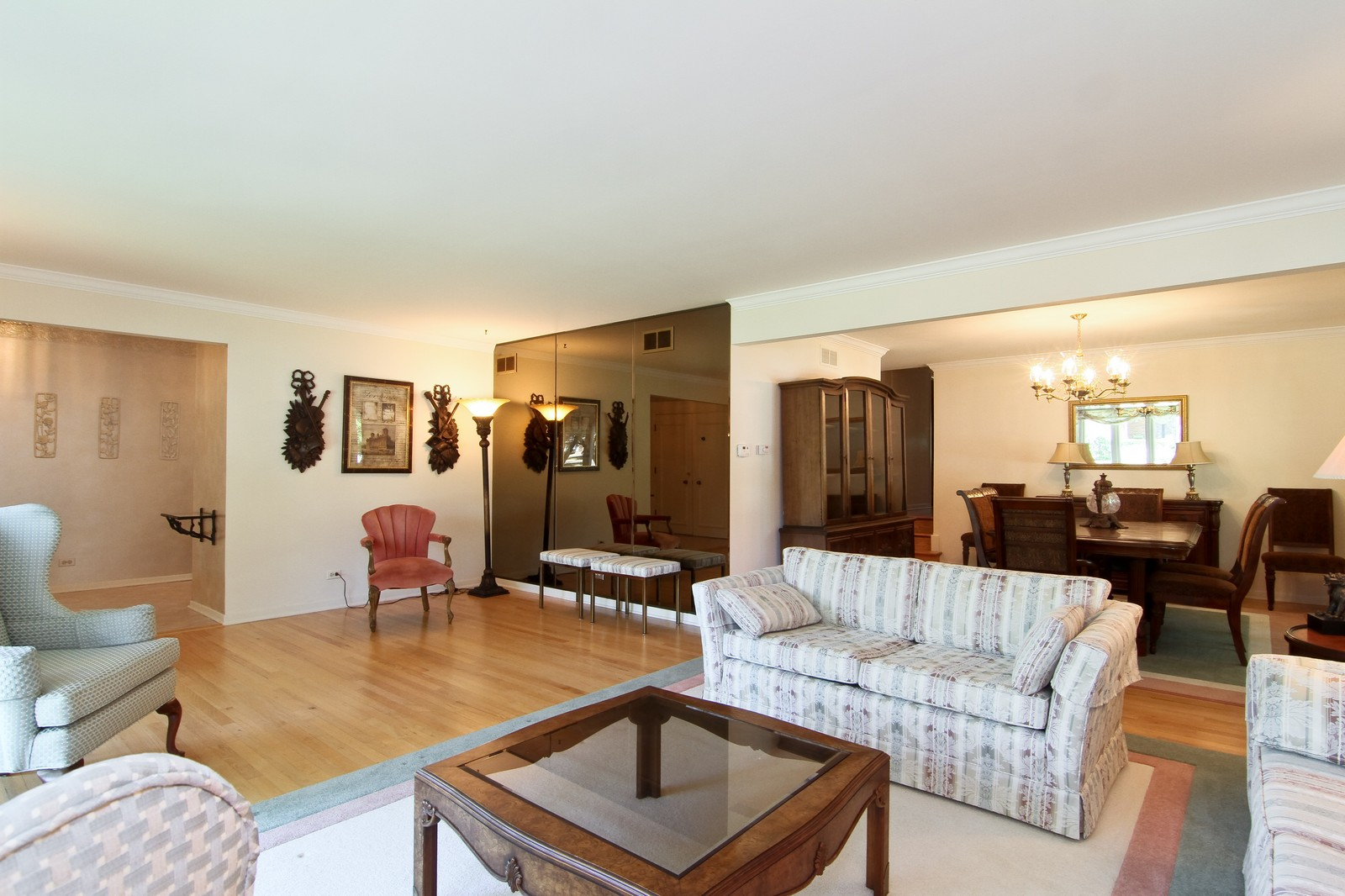 Real Estate Photography - 829 Columbia, Darien, IL, 60561 - Living Room / Dining Room