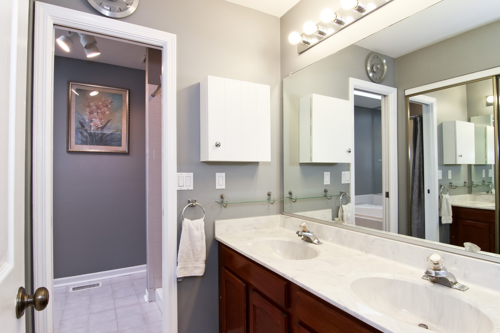 Real Estate Photography - 232 Carlisle Ave, Unit 232, Westmont, IL, 60559 - Master Bathroom