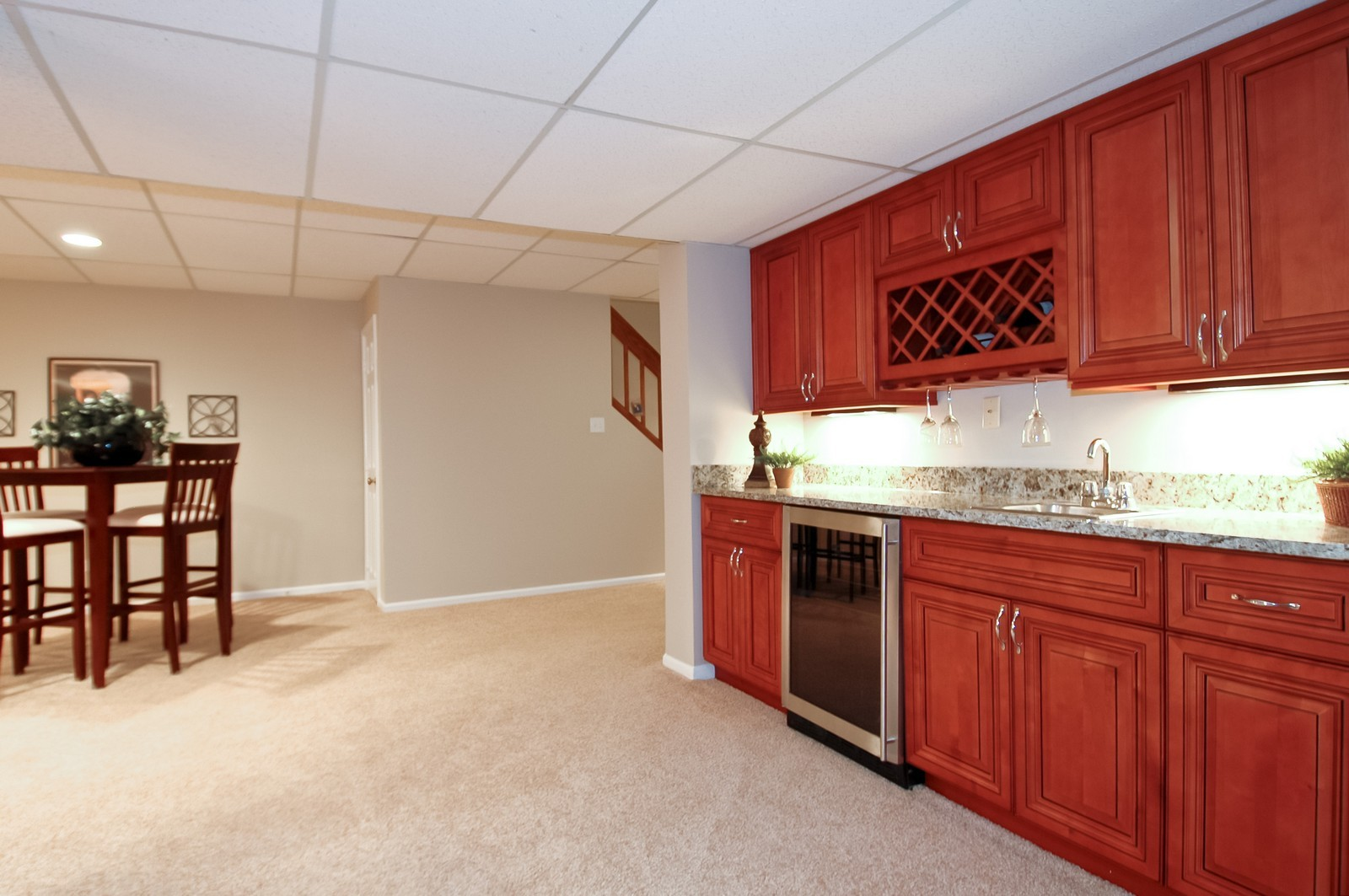 Real Estate Photography - 297 Oak Hill Rd, Lake Barrington, IL, 60010 - Wet Bar