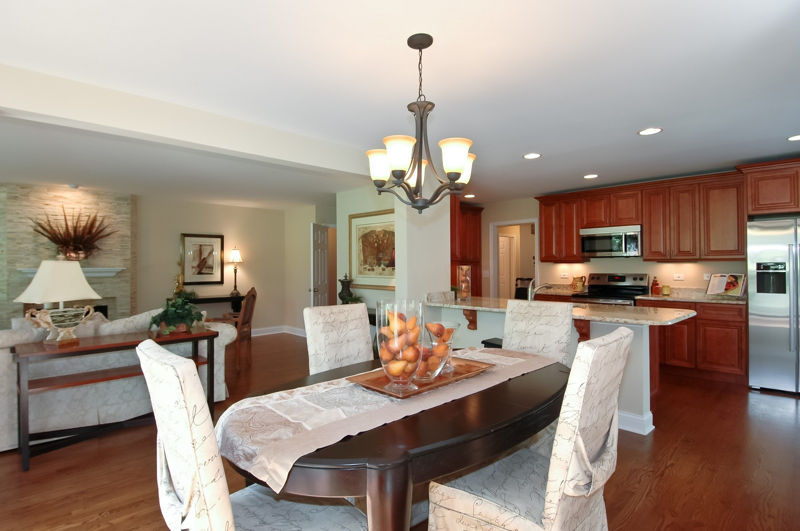 Real Estate Photography - 297 Oak Hill Rd, Lake Barrington, IL, 60010 - Living Room / Dining Room