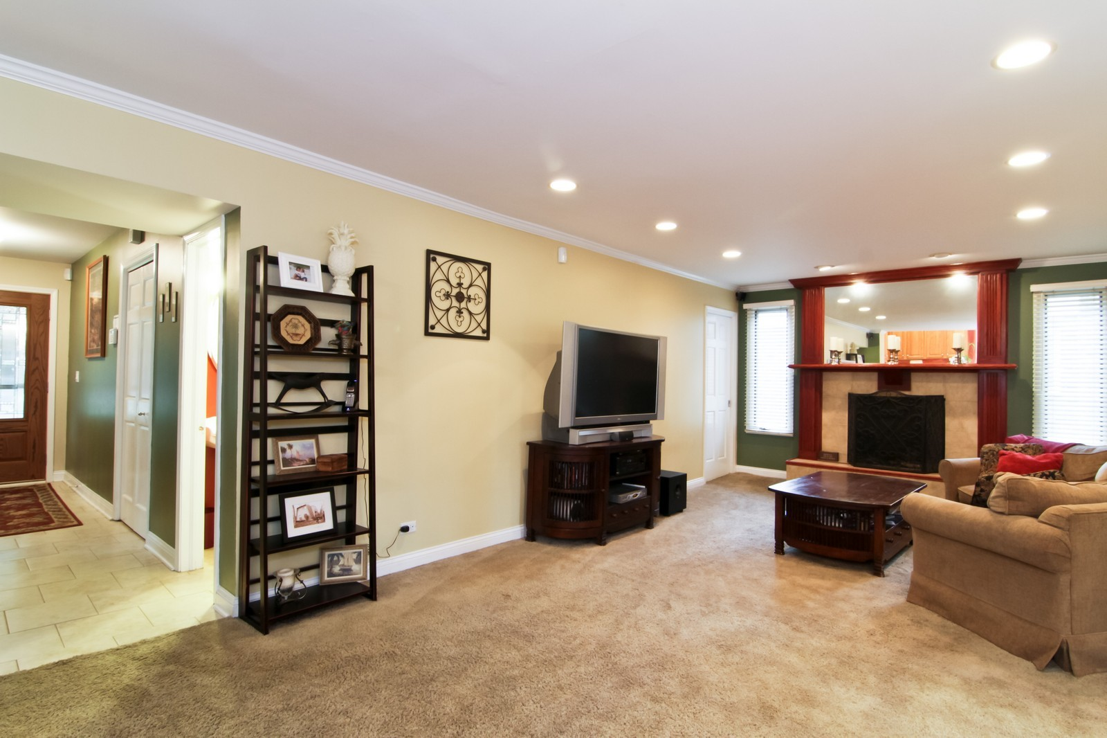 Real Estate Photography - 6224 Blodgett Ave, Downers Grove, IL, 60516 - Family Room & Foyer