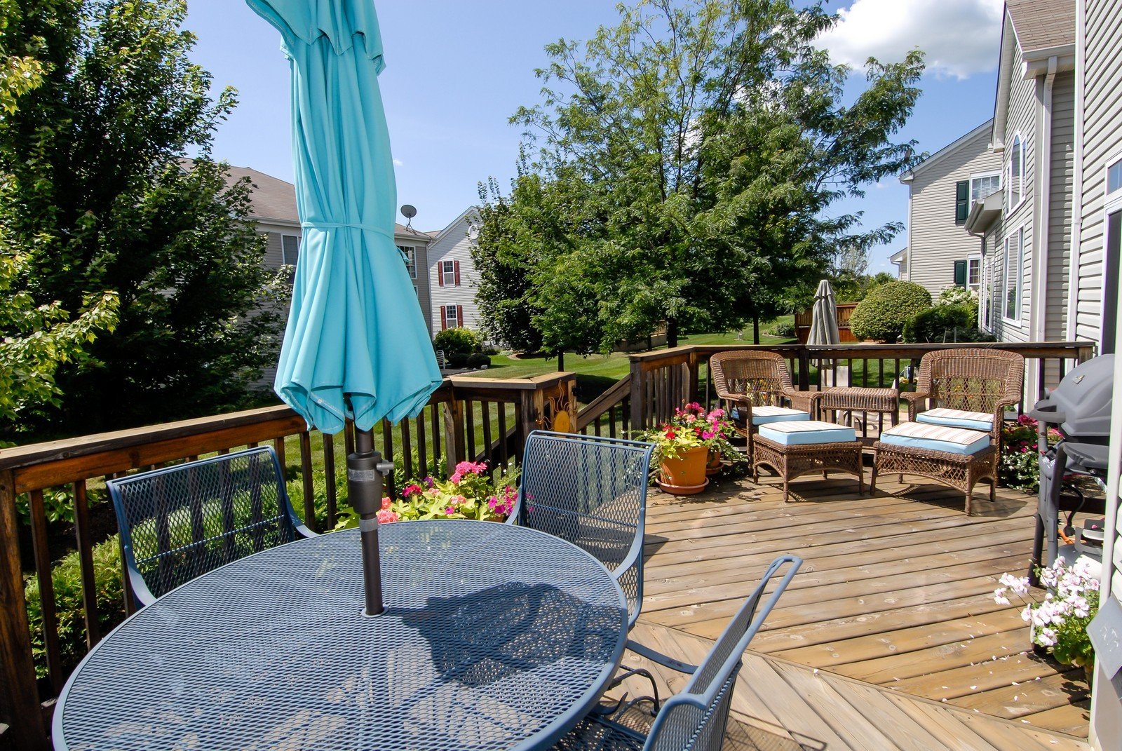 Real Estate Photography - 420 Cannon Dr, Geneva, IL, 60134 - Deck