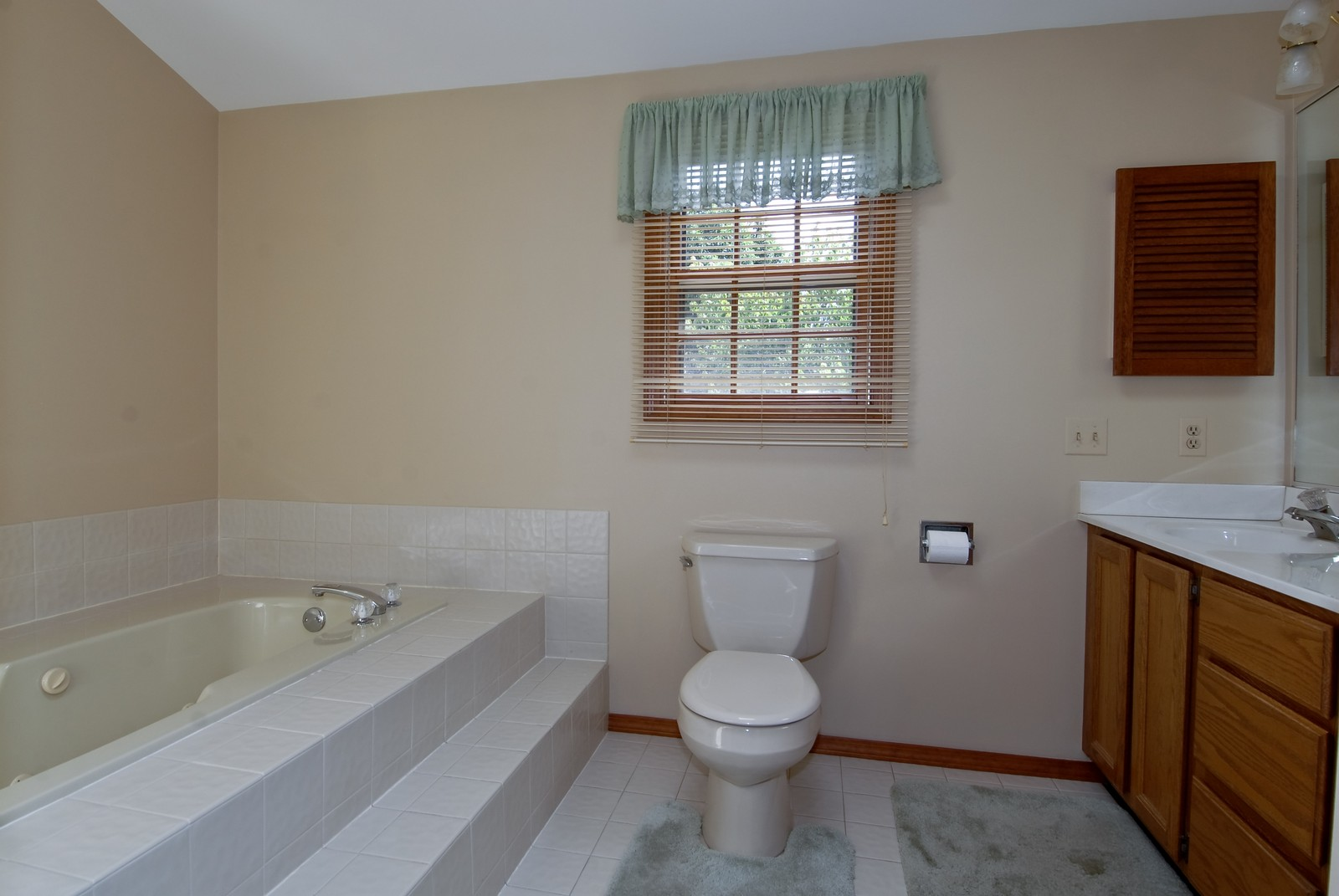 Real Estate Photography - 913 Lewis Rd, Geneva, IL, 60134 - Master Bathroom