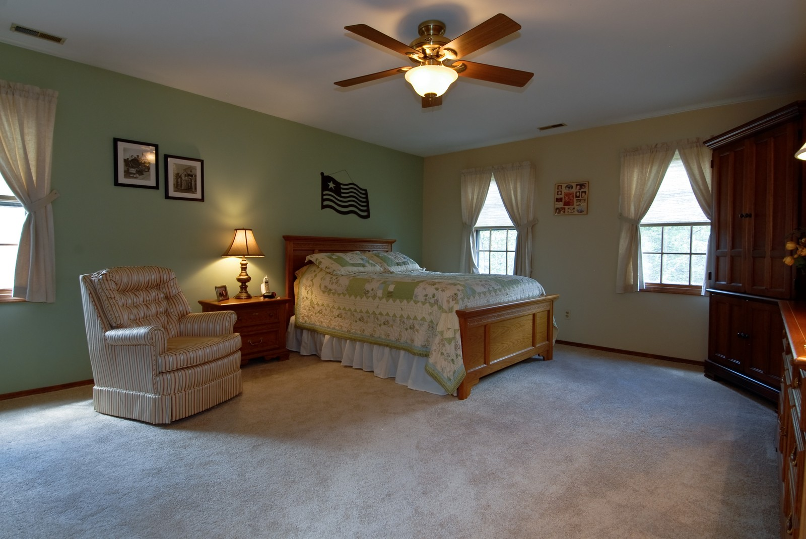 Real Estate Photography - 913 Lewis Rd, Geneva, IL, 60134 - Master Bedroom
