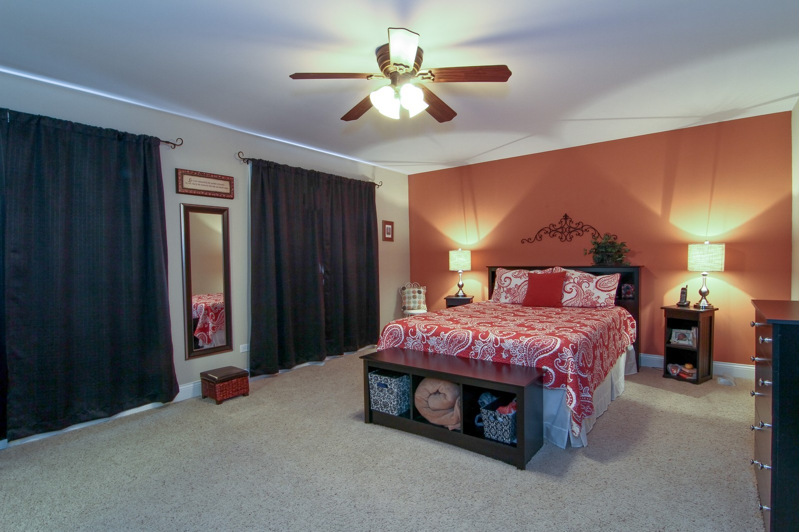 Real Estate Photography - 2215 Maple Hill Ct, Downers Grove, IL, 60515 - Master Bedroom